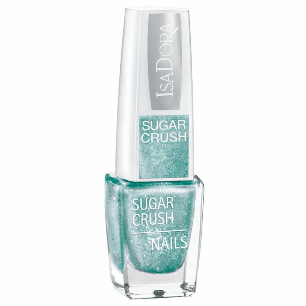 Isadora turkost glittrigt nagellack