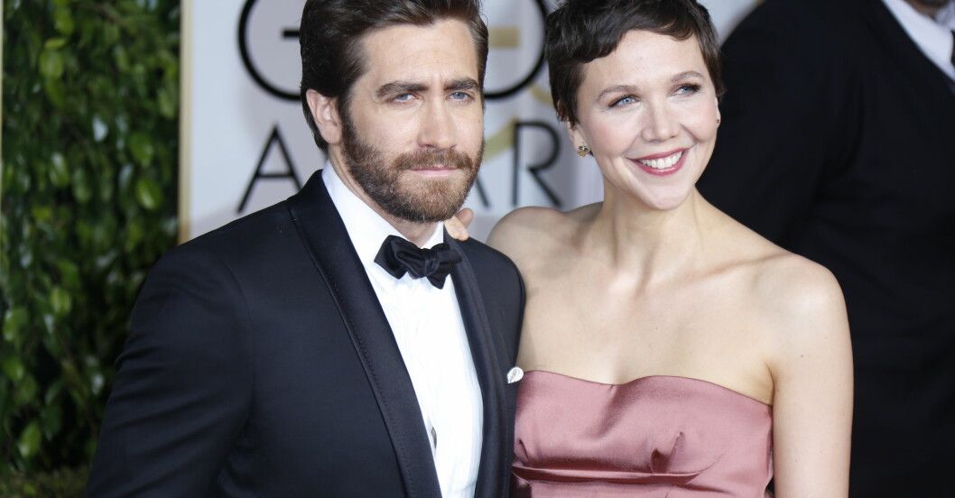 Jake Gyllenhaal och Maggie Gyllenhaal under Golden globes awards.