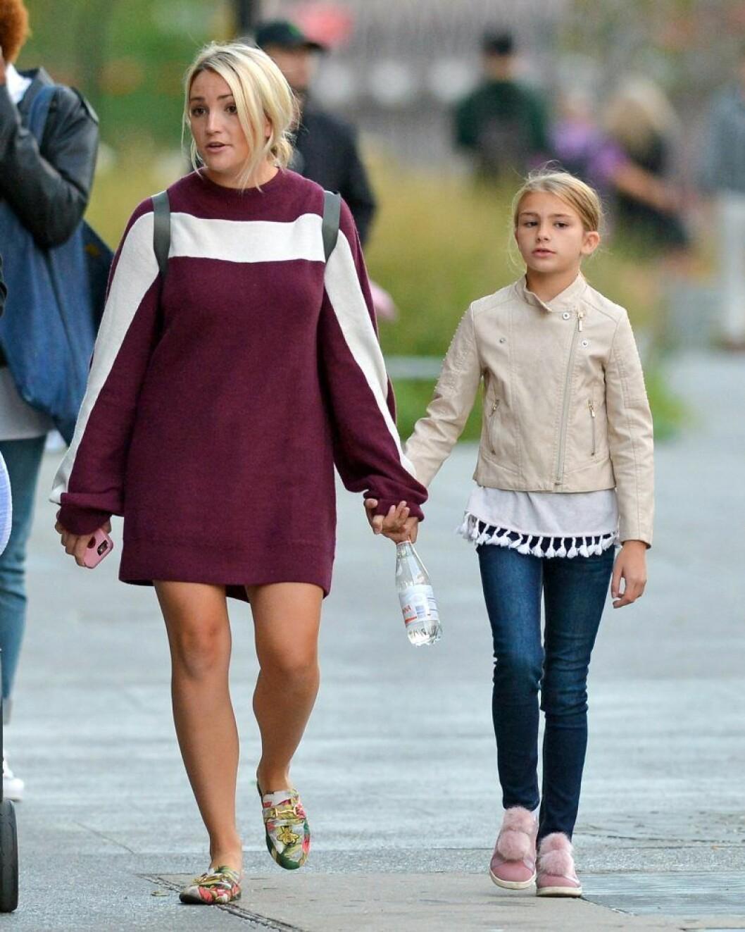 Jamie Lynn Spears tillsammans med sin dotter