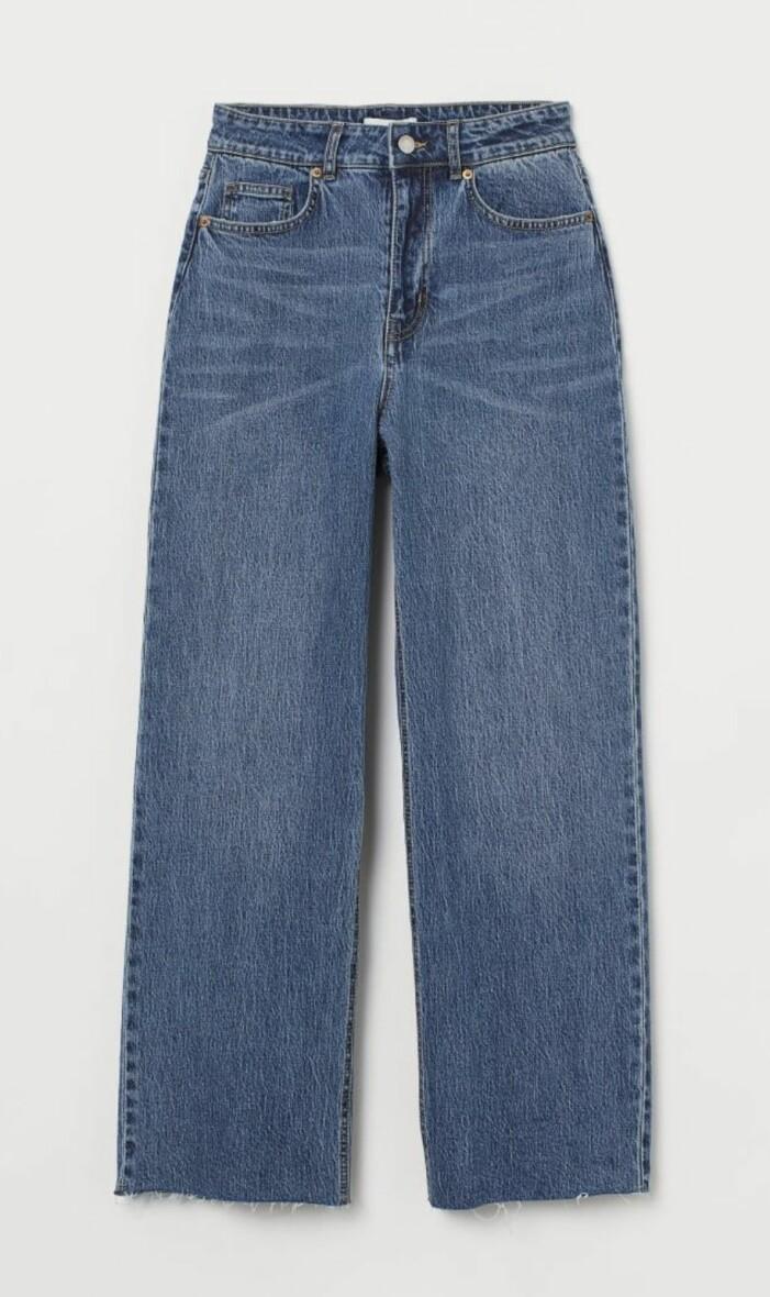 jeans hög midja H&M