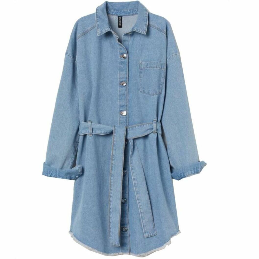 Jeansklänning i skjortmodell från H&M