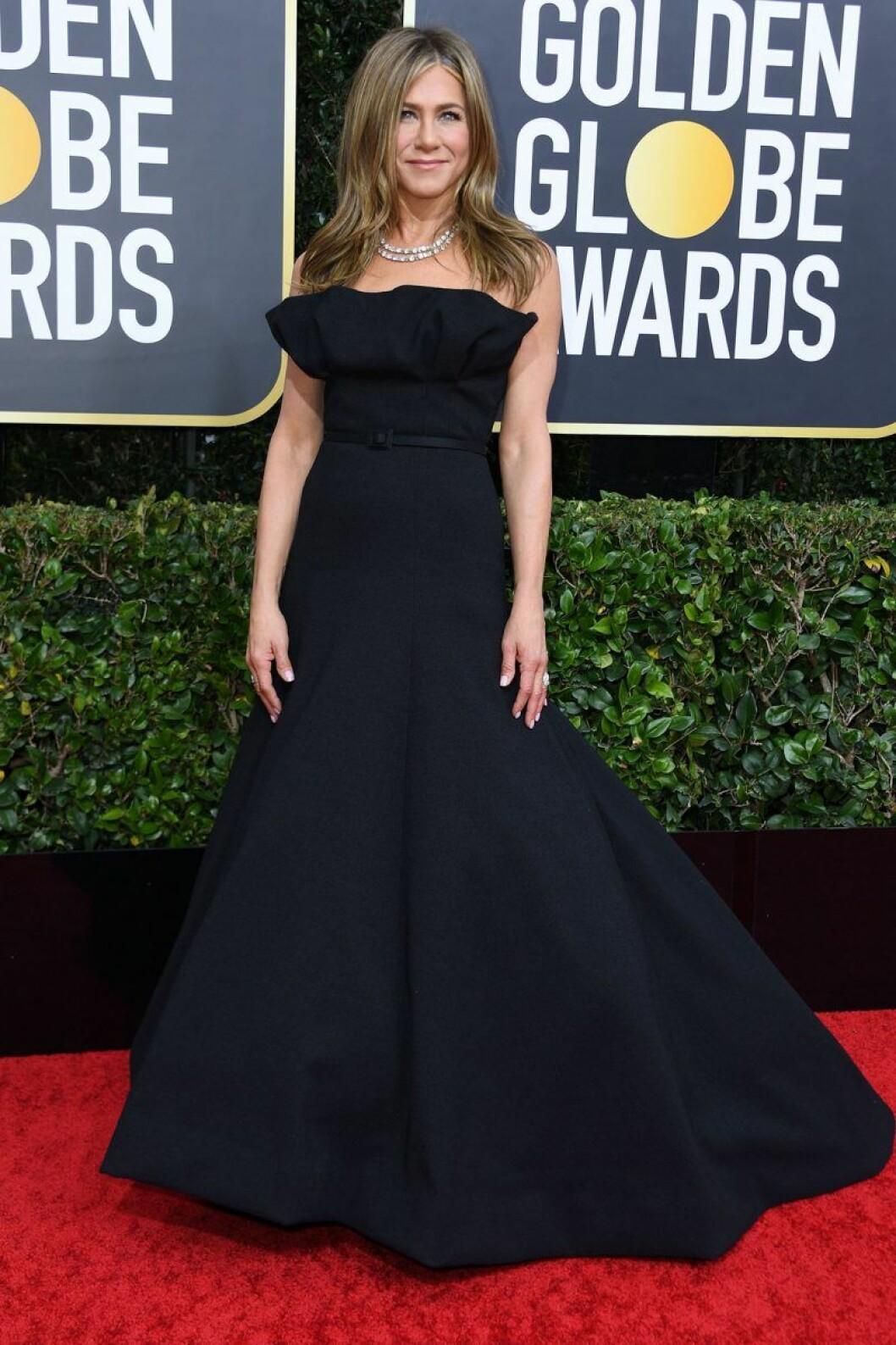 Jennifer Aniston på Golden Globes.