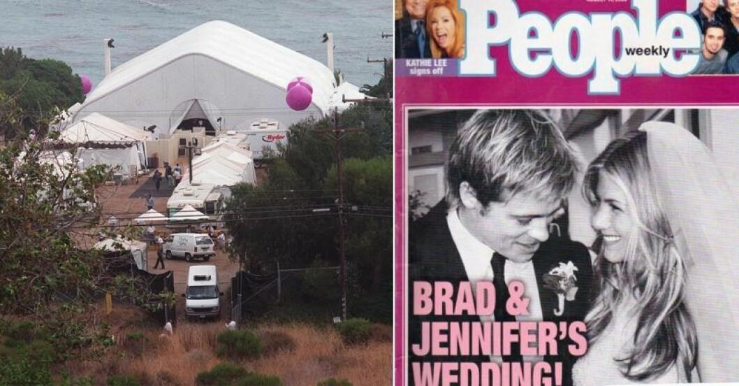 Jennifer och Brads bröllop