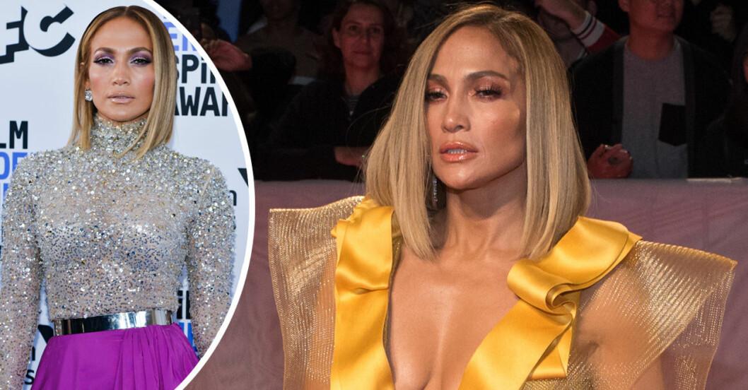 Jennifer Lopez i rakt hår