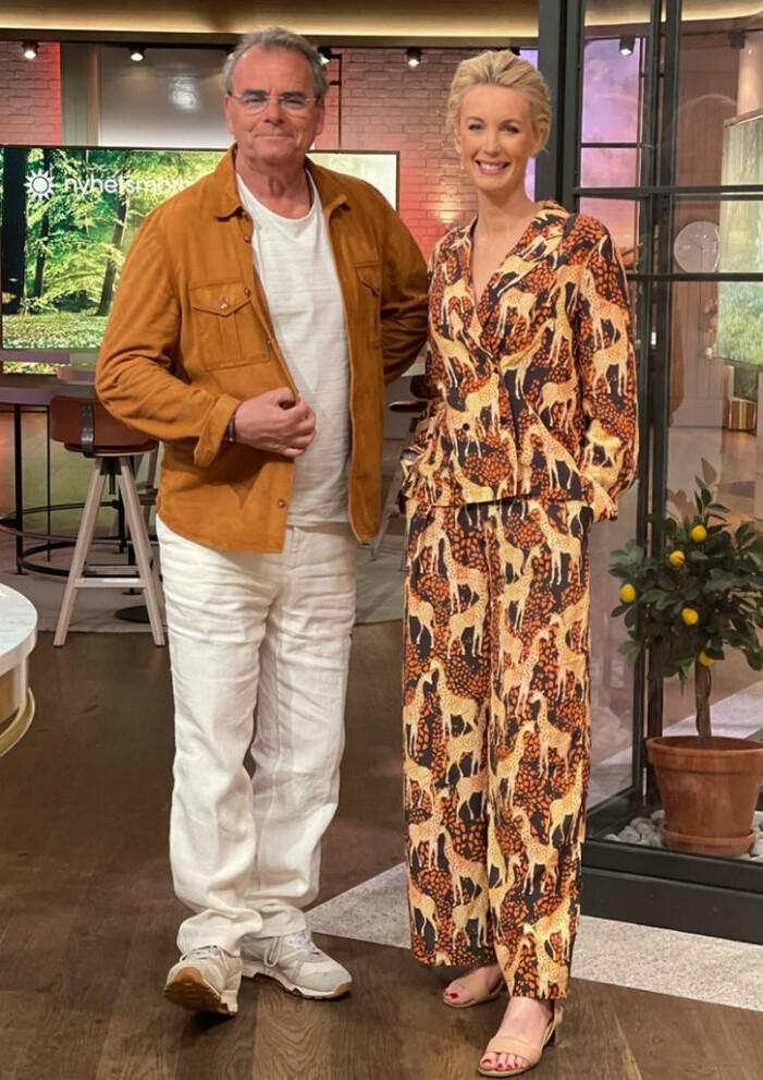 mönstrad skjorta och byxor jenny strömstedt nyhetsmorgon