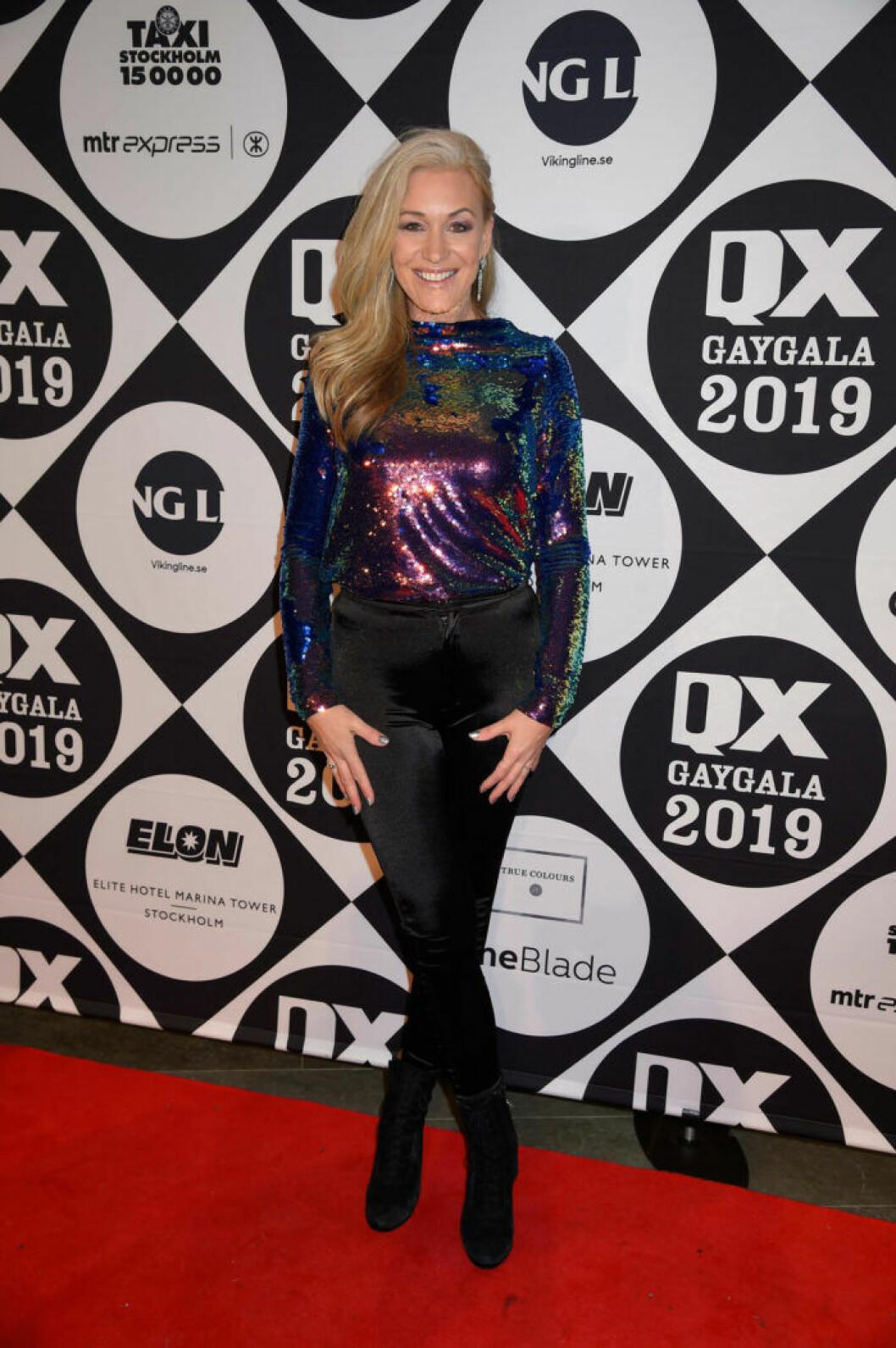 Jessica Andersson på QX-galan 2019
