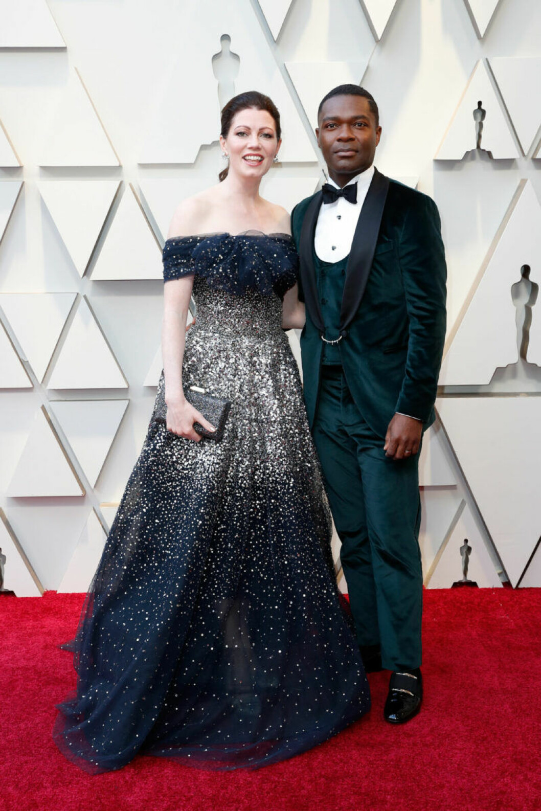 Jessica Oyelowo och David Oyelowo på Oscarsgalan 2019