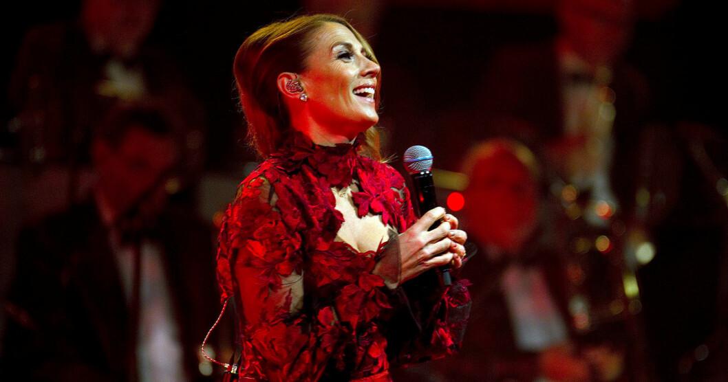 Jill Johnson på sin julkonsert i Gävle 2018