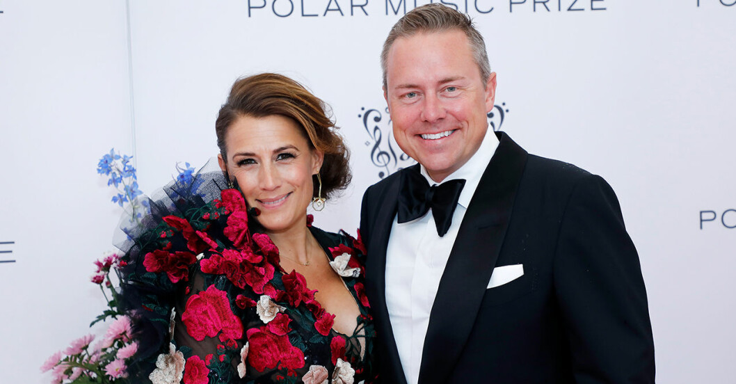 Jill Johnson och pojkvännen Mattias Elg.