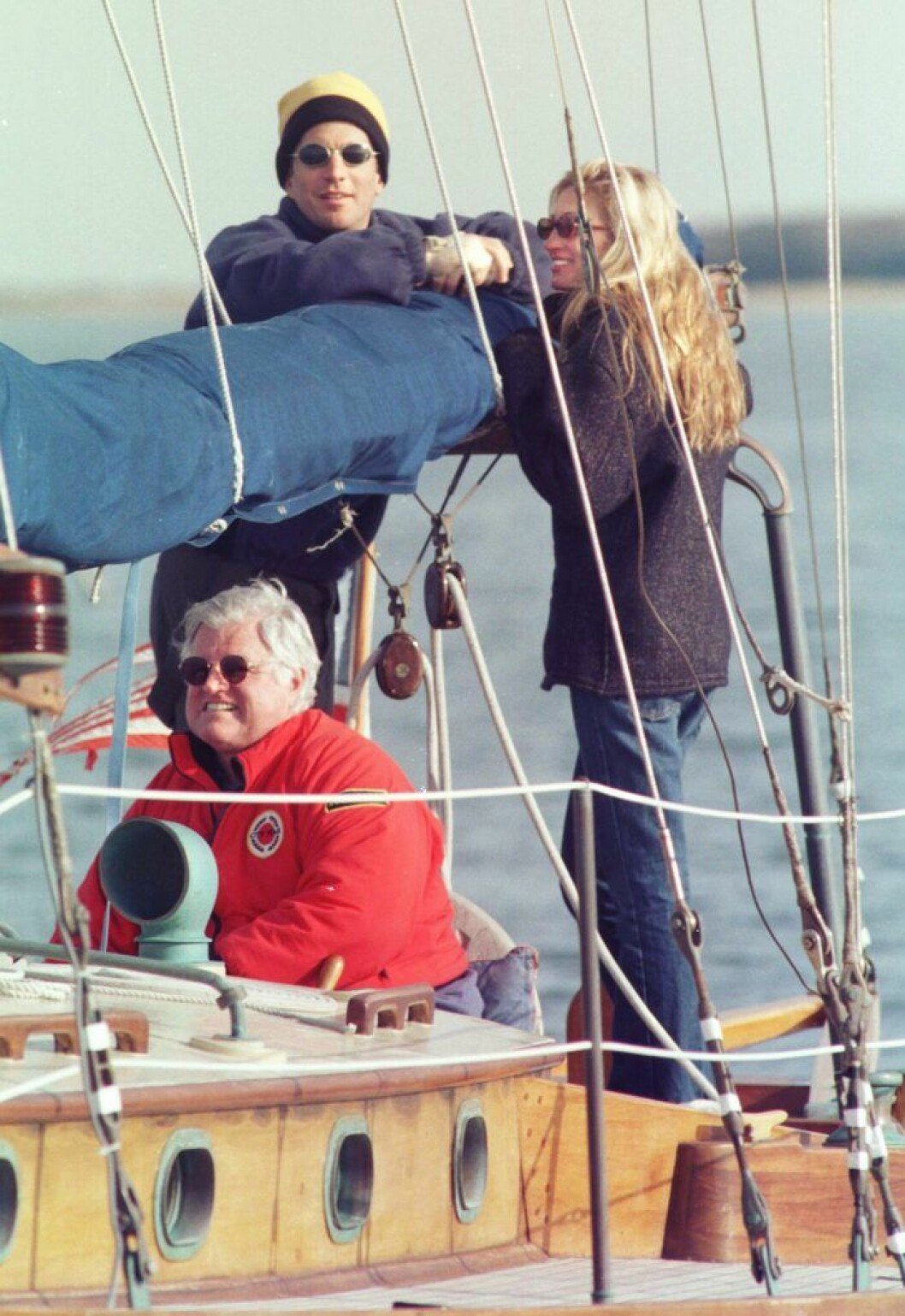 John Jr. och Carolyn på segeltur