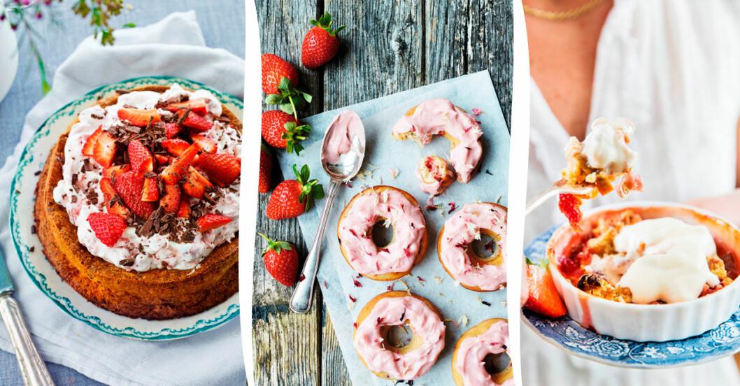 4 härligt somriga recept med jordgubbar