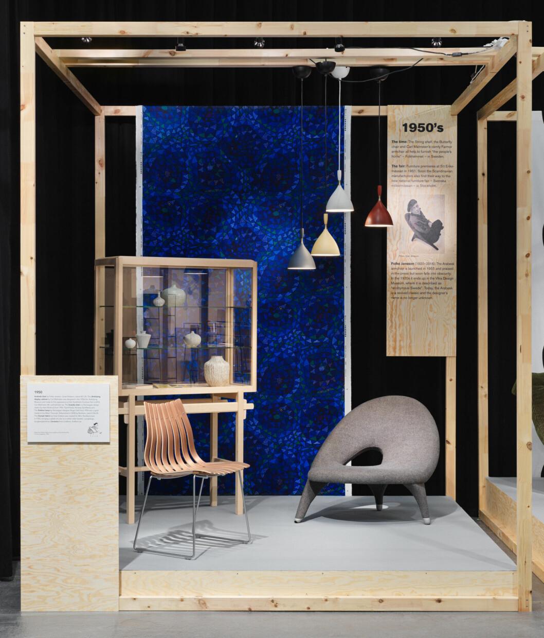 70 år av skandinavisk design - utställning på möbelmässan 2020