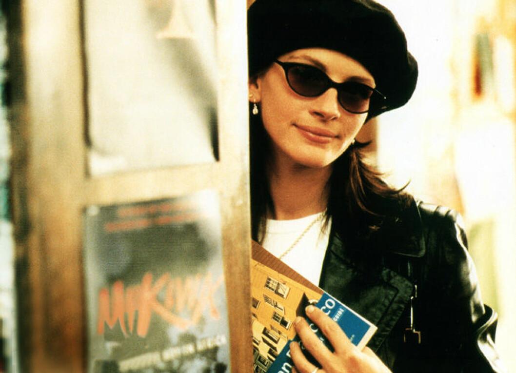 En bild på skådespelerskan Julia Roberts i filmen Notting Hill.