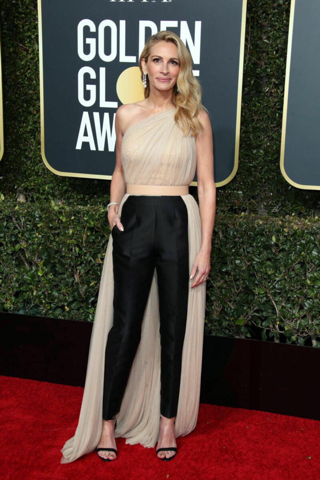 Julia Roberts på röda mattan på Golden Globe