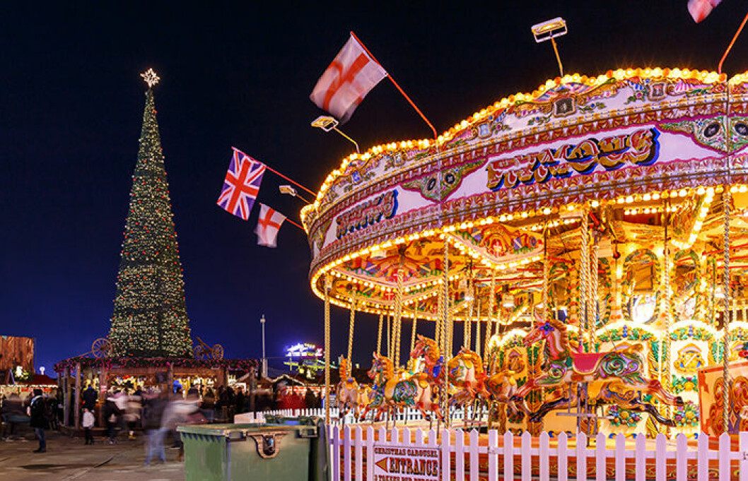 Julmarknad i Hyde Park, London