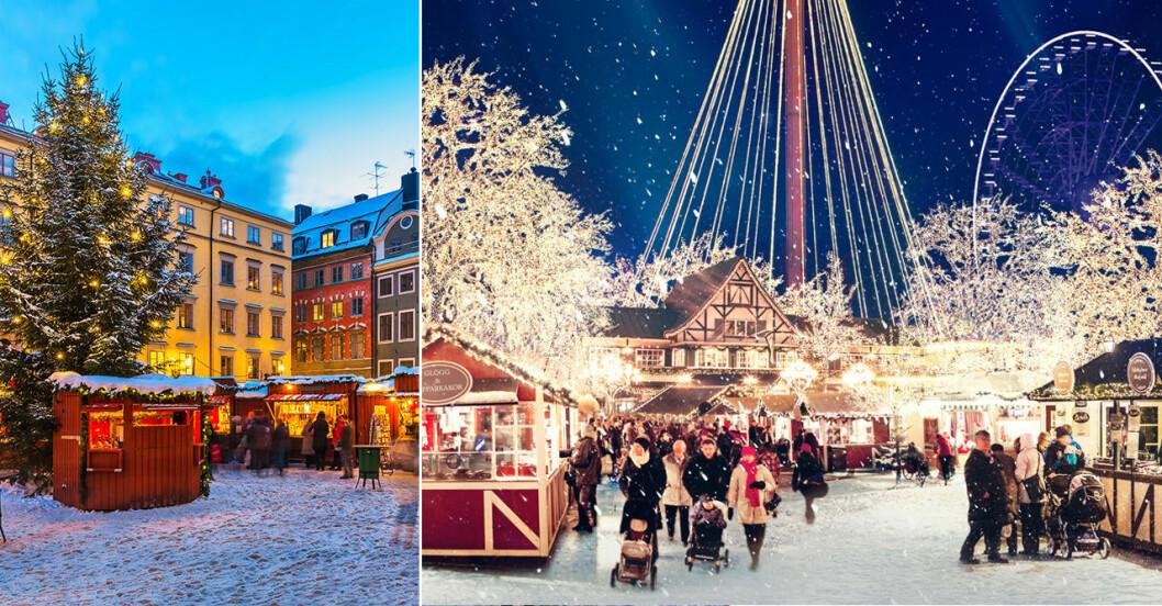 Julmarknad på Liseberg och i Gamla Stan