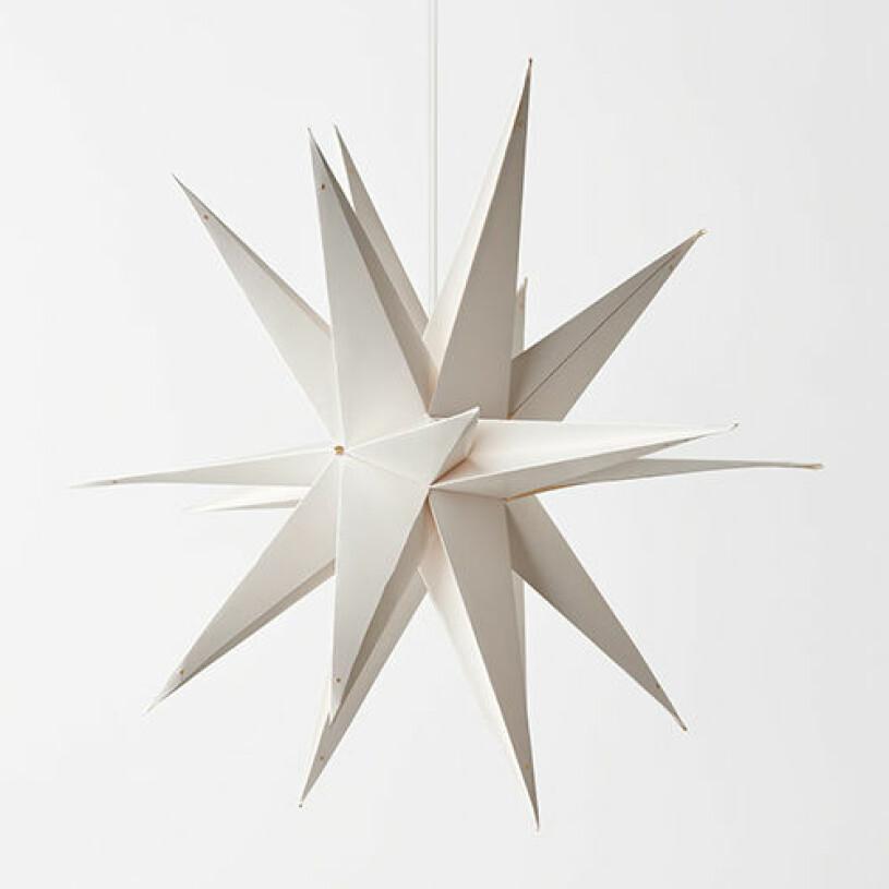 Vit 3D julstjärna från Åhléns