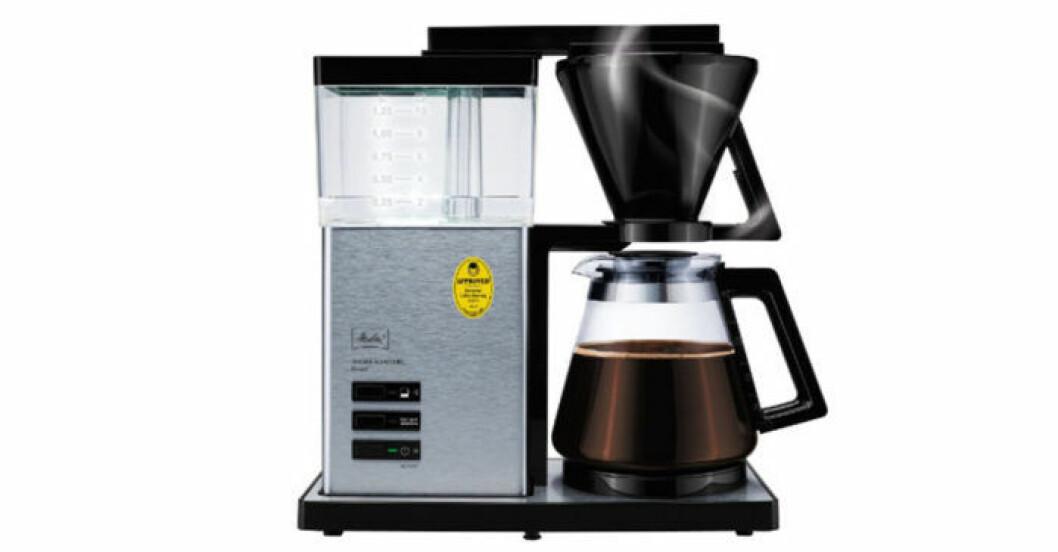 Exklusiva kaffebryggaren Aroma Signature I rostfritt stål, från Melitta