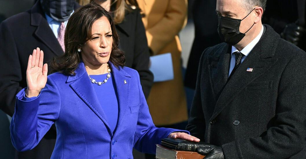 Kamala Harris har svurits in som USA:s vicepresident.