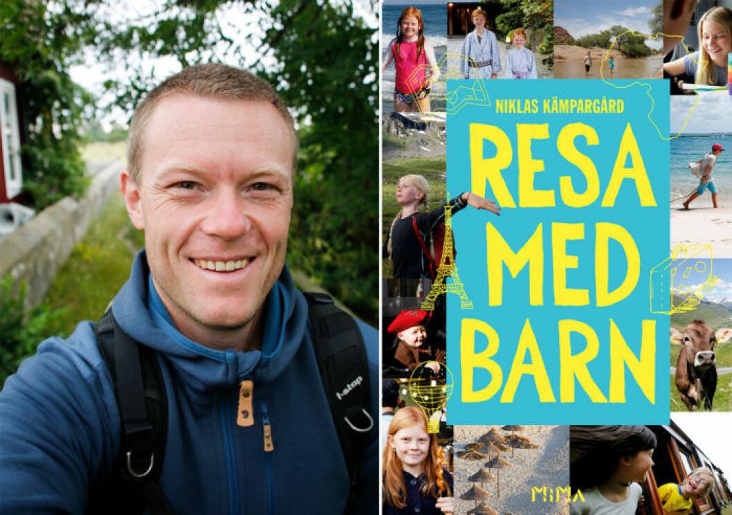 """I boken """"Resa med barn"""" hittar du massor av smarta tips från Niklas Kämpargår"""