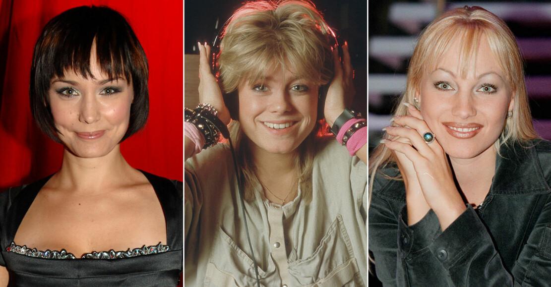 Carina Berg, Pernilla Wahlgren och Charlotte Perrelli i lugg
