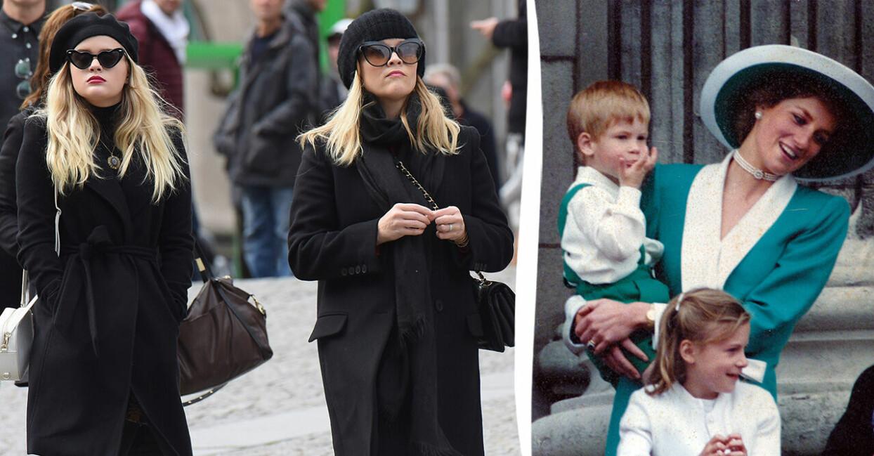 Reese Witherspoon och Ava samt Diana och Harry