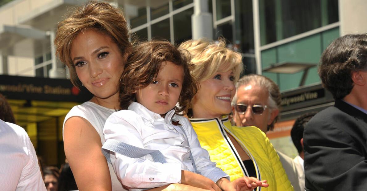 Jennifer Lopez och sonen Maximilian David Muñiz
