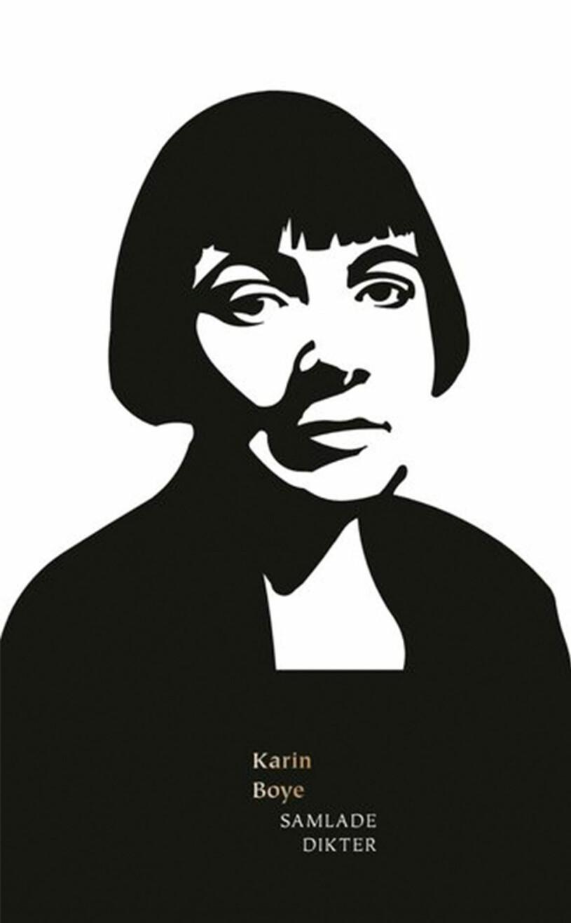 Bokomslag till Samlade dikter, Svartvit illustration av Karin Boye.