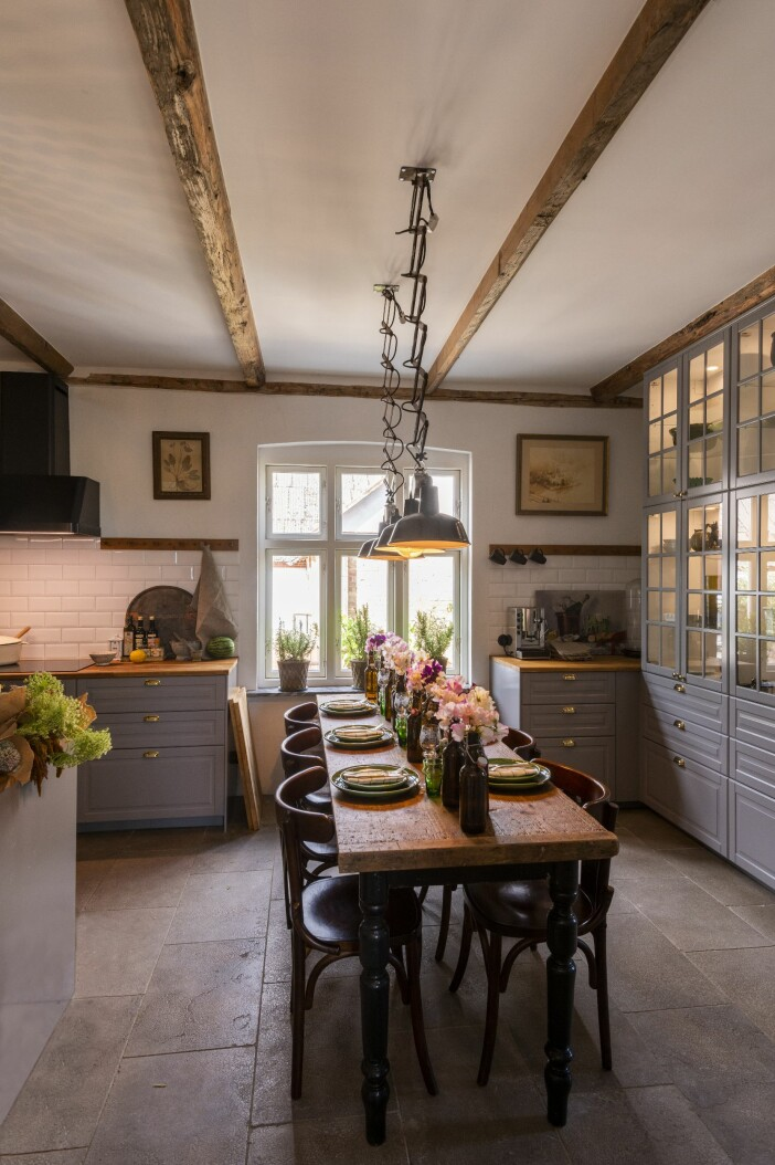 Hemma hos Karl Fredrik på Österlen köket