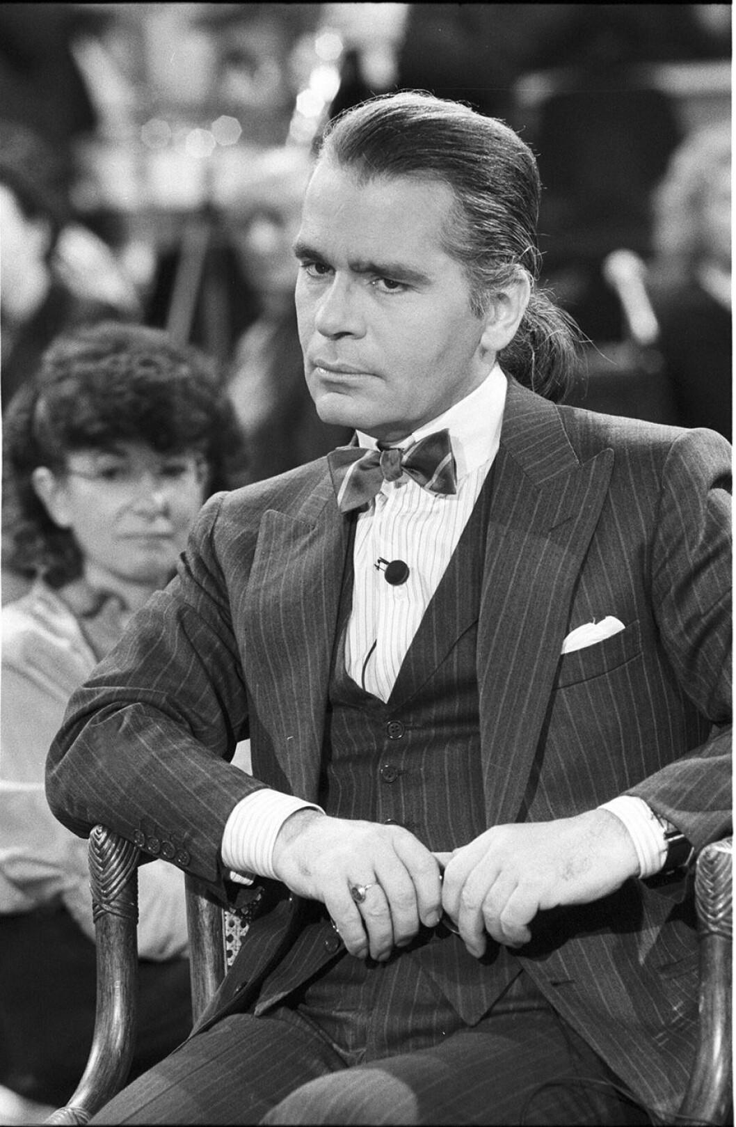 Karl Lagerfeld under hans tidiga år som designer.
