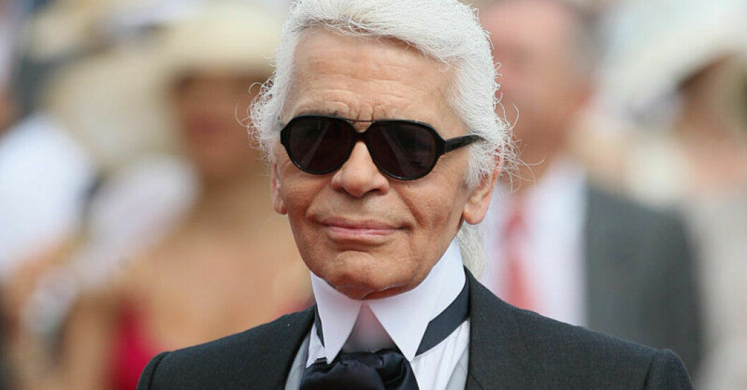 Karl Lagerfeld innan han dog, 85 år gammal.