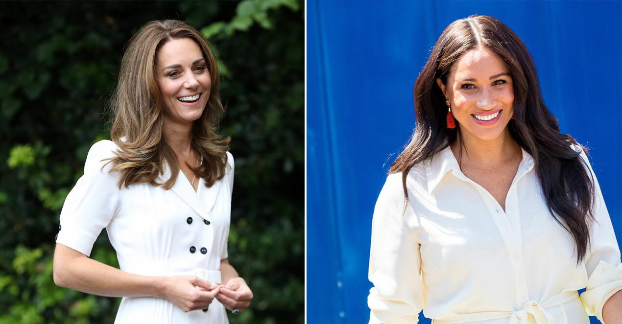Kate Middleton och Meghan Markle strålar ikapp
