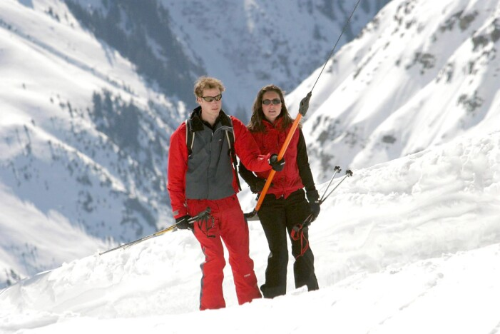 kate middleton och prins william åker skidor