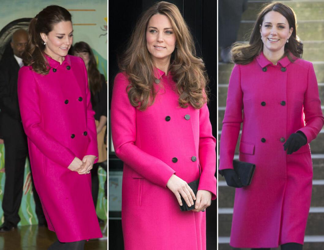 Kate Middleton i rosa kappa