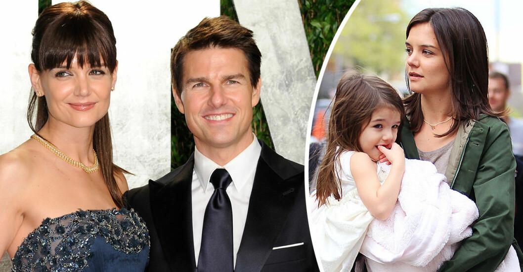 Fina detaljen i bilden på Katie Holmes och dottern Suri Cruise