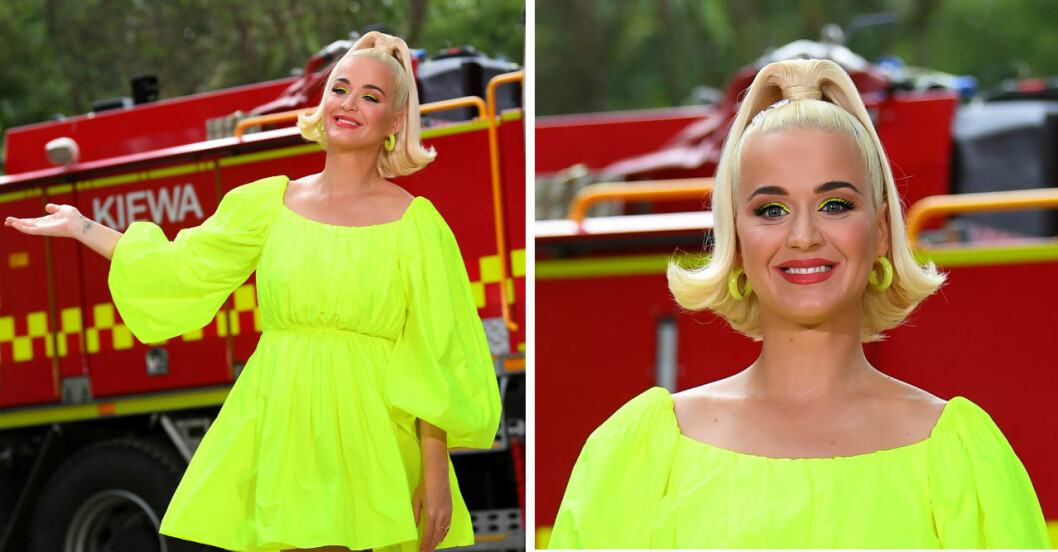 Katy Perry satsar på en färgstark gravidstil.