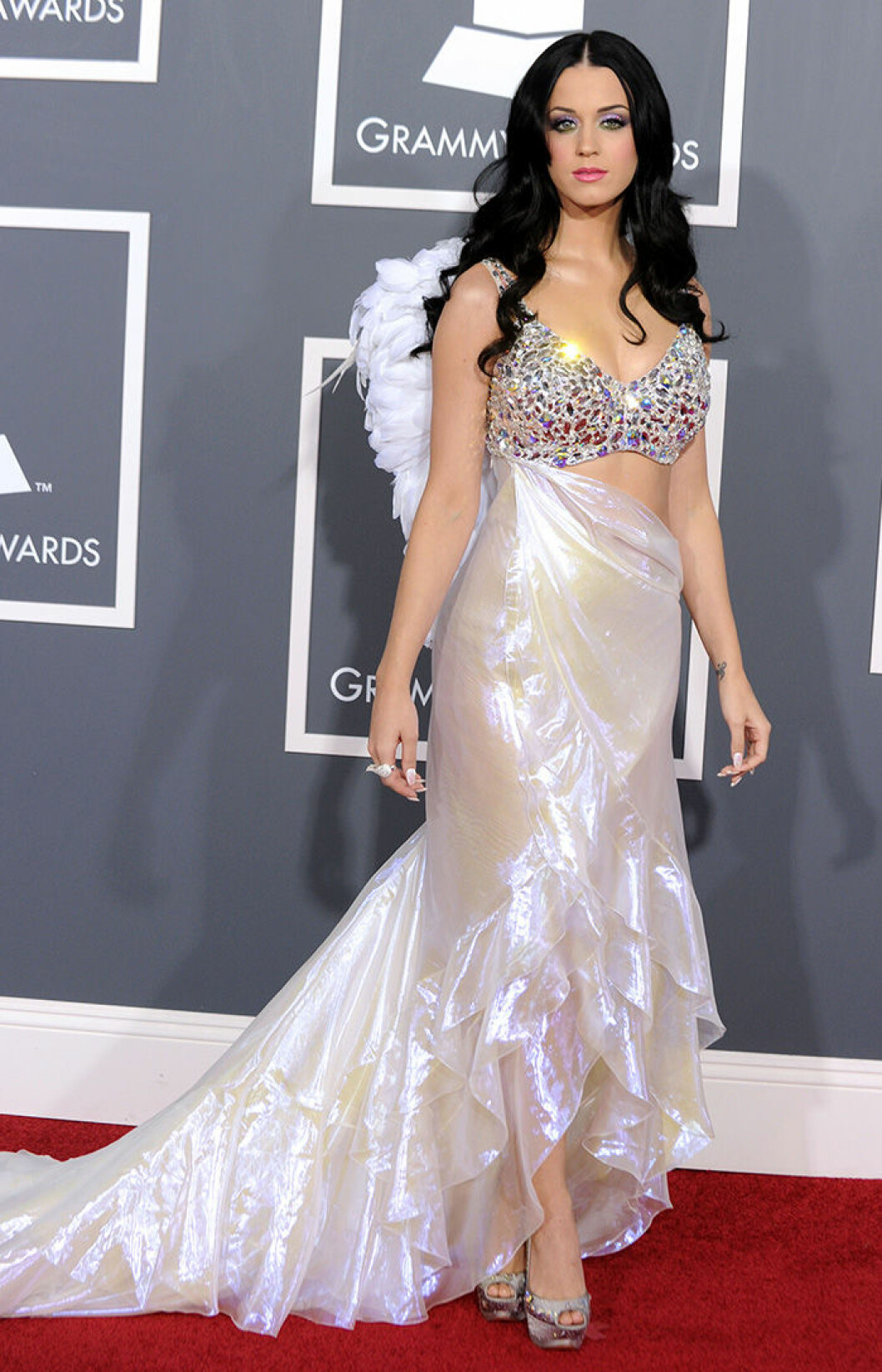En bild på sångerskan Katy Perry på Grammy Awards 2011.