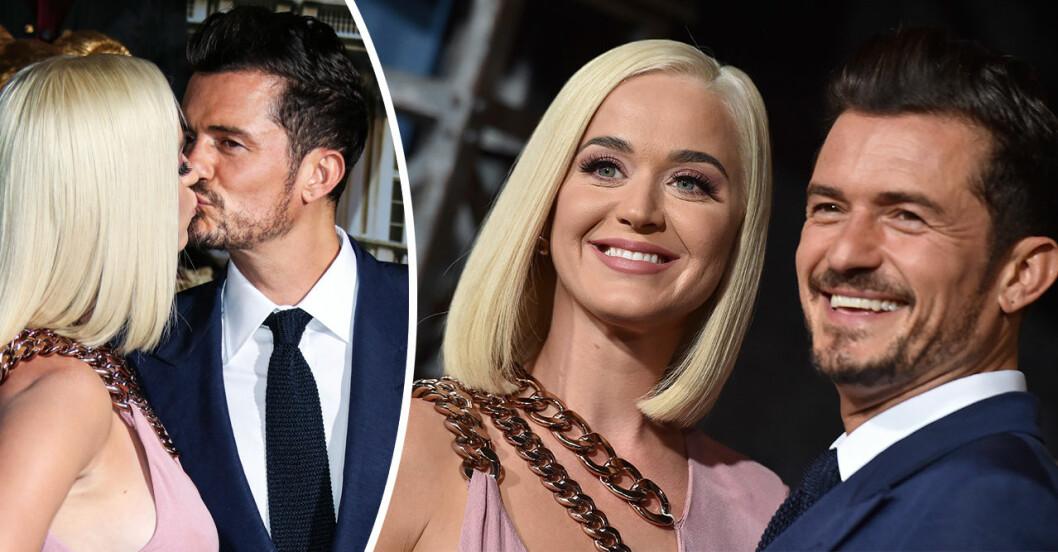 Katy Perry och Orlando Bloom på röda mattan