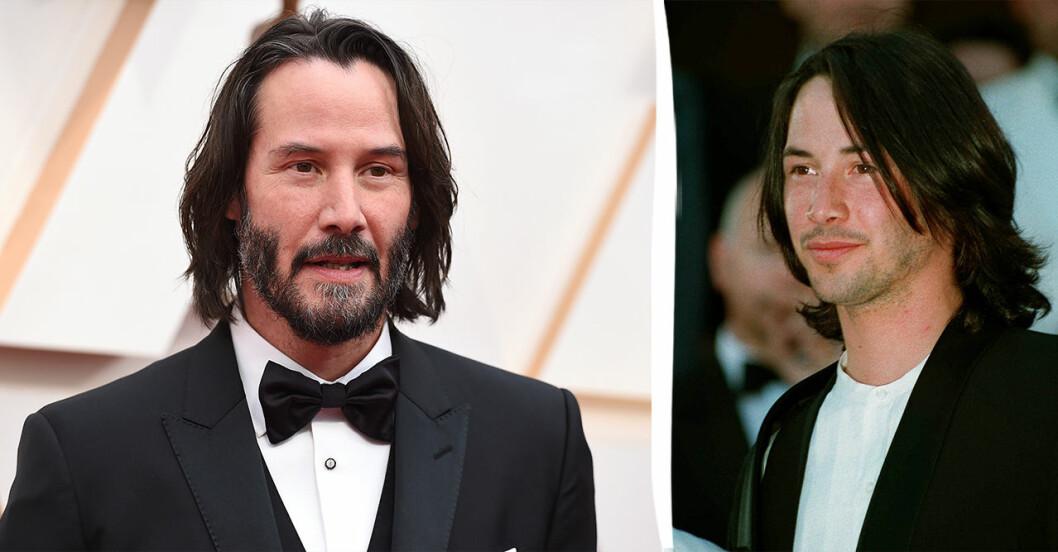 Keanu Reeves 1993 och 2019.