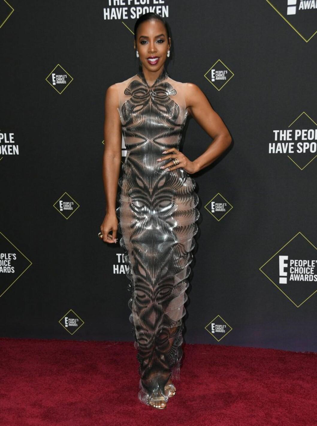 Kelly Rowland på röda mattan på People's Choice Awards 2019