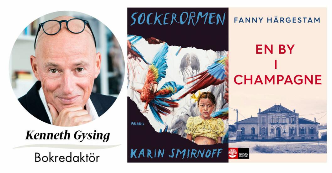 Kenneth Gysing, Feminas bokredaktör recenserar månadens böcker