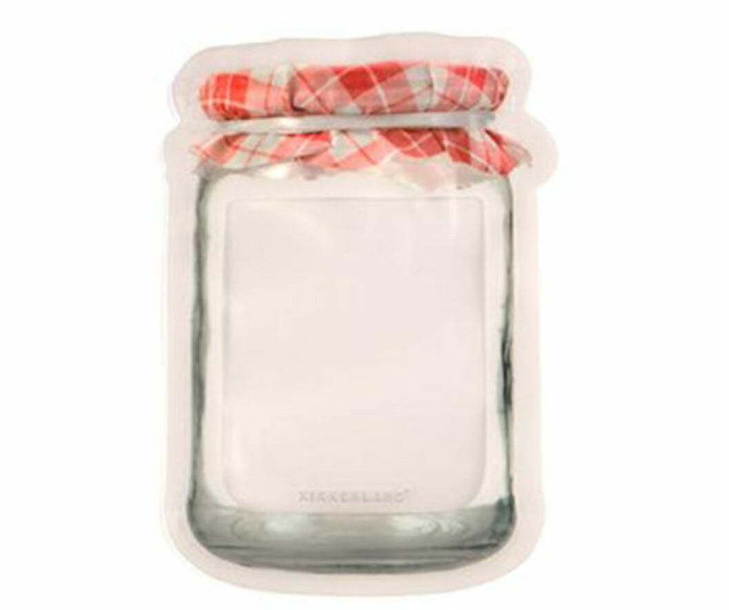 En zippåse i form av en burk som du kan använda många gånger. Från Kikkerland.