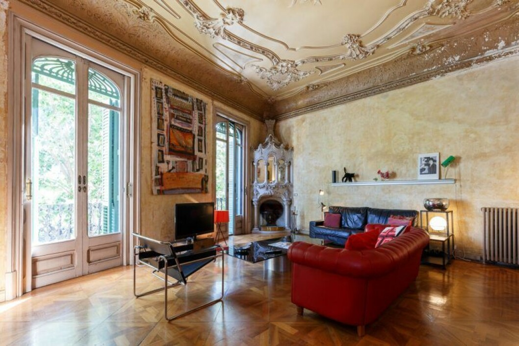 Salongen i huset där Villanelle i Killing Eve bor