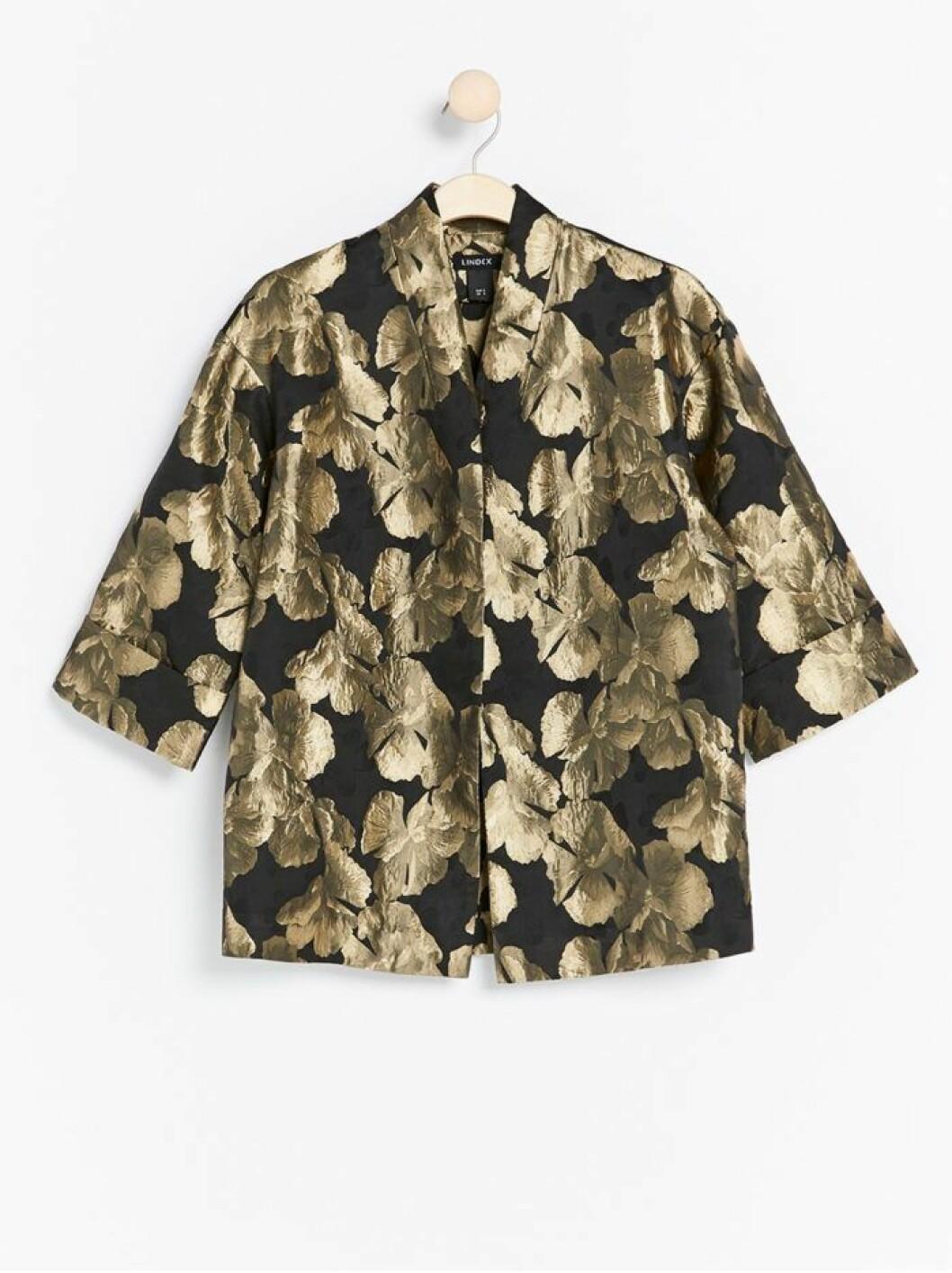 Guldmönstrad kimono från Lindex
