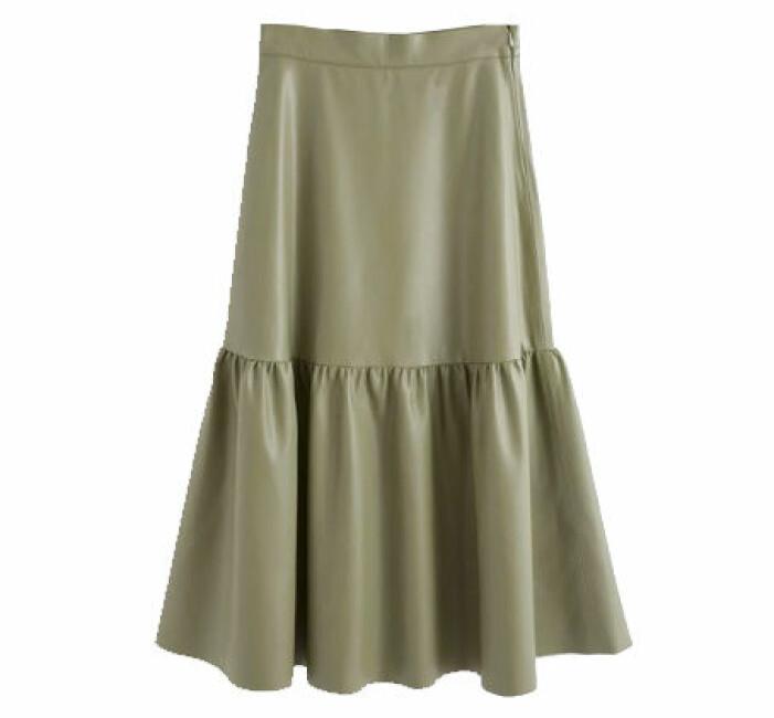 kjol imitationsläder