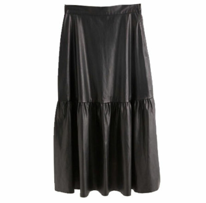 kjol läderimitation