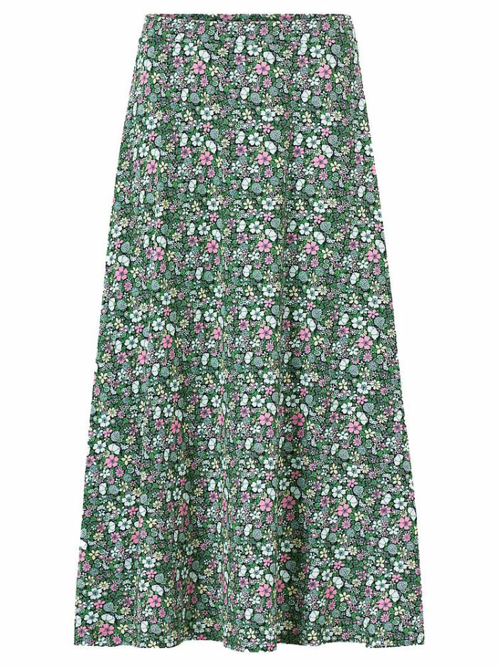 kjol med blommor
