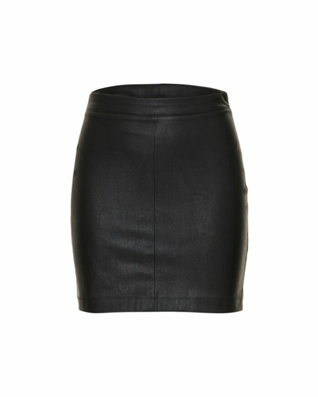 Svart kjol i läderimitation från Wakakuu