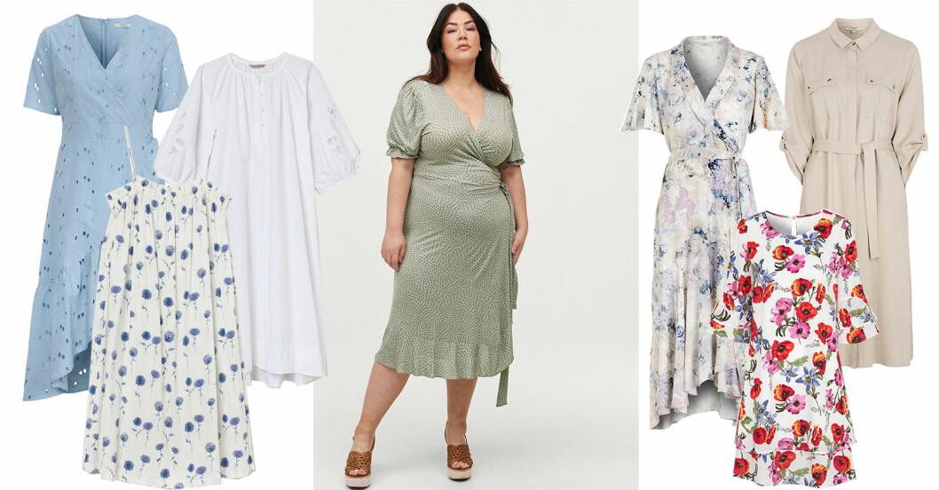 klänning i större storlekar och plus size sommaren 2021