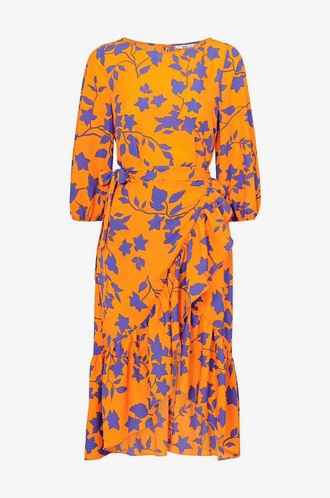 Orange klänning i omlott
